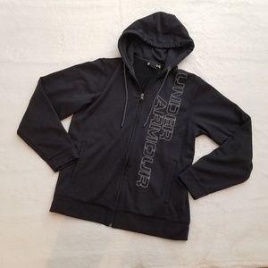 NWOT Black Under Armour Zip-Up Sweatshirt Hoodie